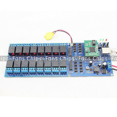 Industrial Ethernet 16 Channel Output TCP/IP Internet Web Relay Remote Switch UK