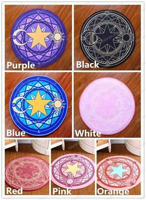 Anime Cardcaptor Sakura KINOMOTO Cosplay Blanket Rug Women Round Carpet Gift New