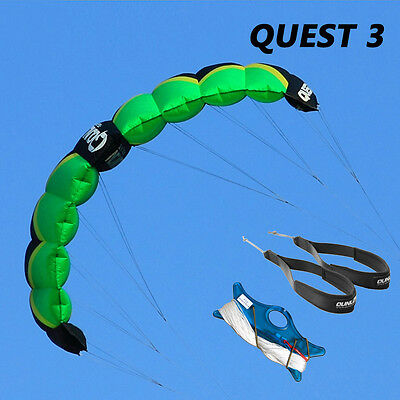 2 Line Traction Kite 3sqm Parafoil Power Kite Beach Sport Wind Game Entry to Pro