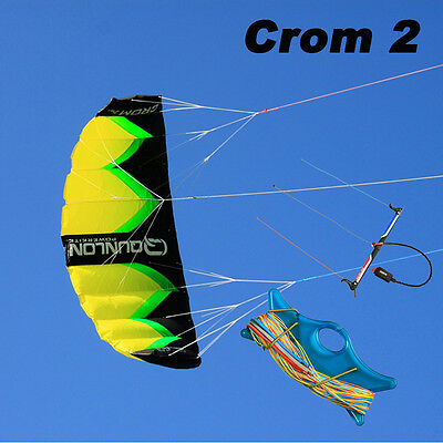 3 Line Control Traction Kite 2sqm Powerkite Sand Board Wind Game Entry toPro