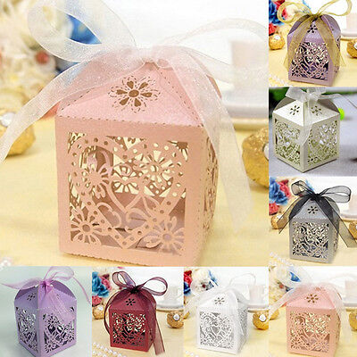 10Pcs/set Wedding Favors and Gifts for guests Party Mariage Candy Boxes Decor