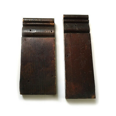 2 Architectural Salvage Wood Plinth Blocks Varnish Stain