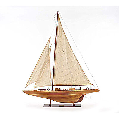 """America's Cup Endeavour 1934 Yacht Wood Model 40"""" Sailboat J Boat New"""