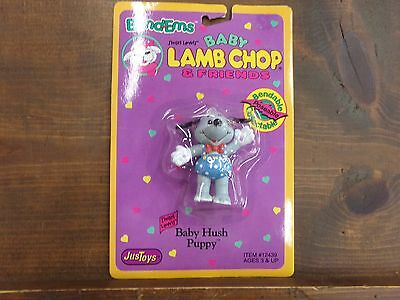 Bend-ems Shari Lewis' Baby Lamb Chop & Friends Figure NEW in Package Hush Puppy