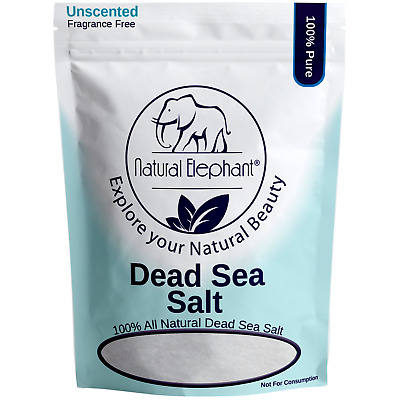 Natural Elephant Dead Sea Salt 100% Pure 1 lb, 2 lb, 5 lb, 10 lb Bag Fine Grain
