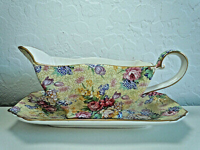Royal Winton Welbeck Gravy Boat and Underplate Chintz