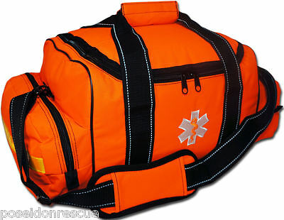 ORANGE Lightning X Large First Responder Bag, Dividers, Medical Trauma First Aid