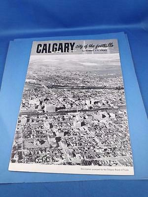 Calgary City Of The Foothills Booklet Robert J.c. Stead History Pictures