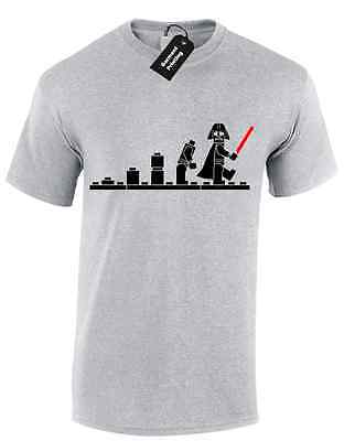 Darth Lego Evolution Mens T Shirt Tee Funny Star Trooper Design Robot Wars Retro
