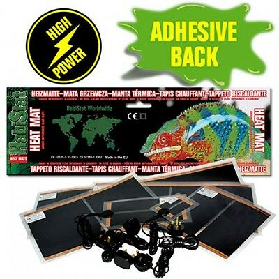 Habistat Heat Mat - Reptile Vivarium Heating - Full Range With Free Thermometer!