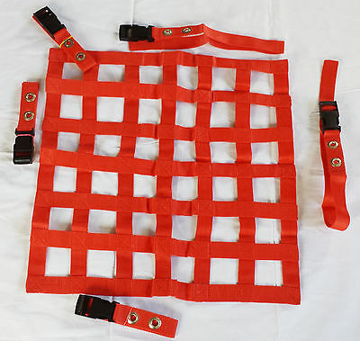 45x45 cm Red Window Net Car Racing Safety Equipment Off Road Rally Motorsport