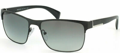 Authentic Prada PR 51OS FAD3M1 Matte Black Sunglasses Grey Gradient lens