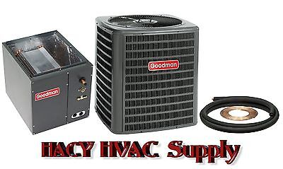 2-1/2 Ton 13 Seer Central Air AC Add On - GSX130301 + Evaporator Coil + Line Set