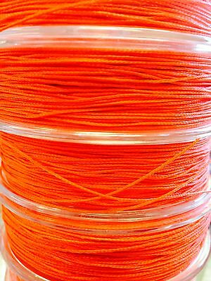 Fly line backing fluorescent orange 150m for Fly fishing backing