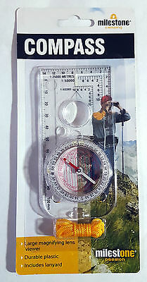 Milestone Map Reading Compass Walking Hiking Orienteering Army Scouts Camping