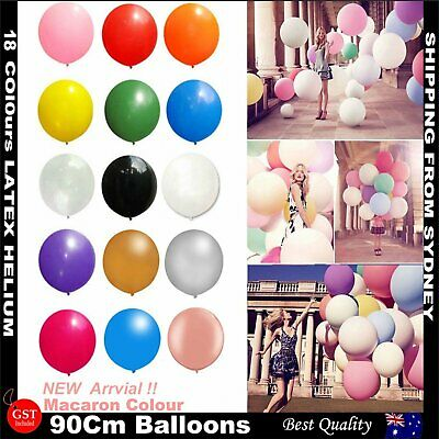 New 36 Inch 90cm Balloon Large Circular Birthday Wedding Party Latex 10 Colours