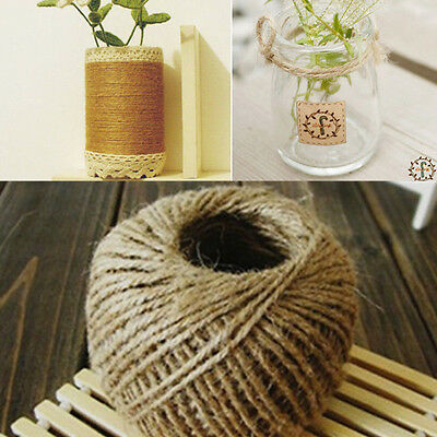 1Roll New Hessian Rope Jute Burlap String Cord Twine Craft Decor DIY Supply 30M