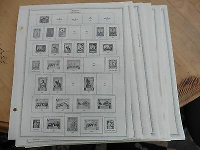 E10 Peru stamps hinged 34 Minkus pages 1931-1990 incomplete