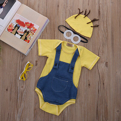 Cute Toddler Baby Girl Boy Clothes Short Sleeve Bodysuit Romper Jumpsuit Outfits