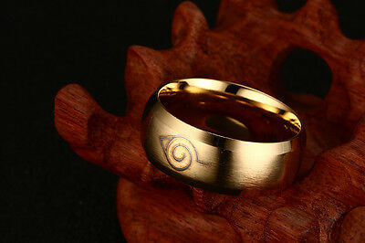Naruto Akatsuki Uchiha Itachi Logo Ring Size 6 to Size 12 Two Color Anime Ring