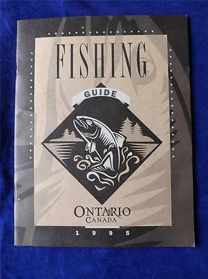 Fishing Guide 1995 Map Regulations Ontario Ministry Culture Tourism Recreation