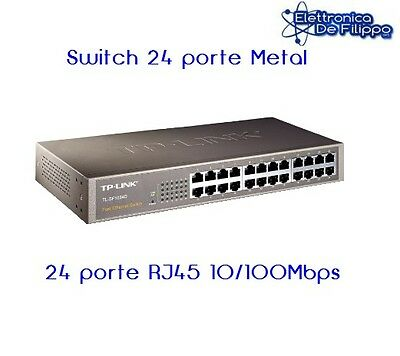 SWITCH ETHERNET 10/100 24 PORTE METAL Mod. TP-LINK TL-SF1024D