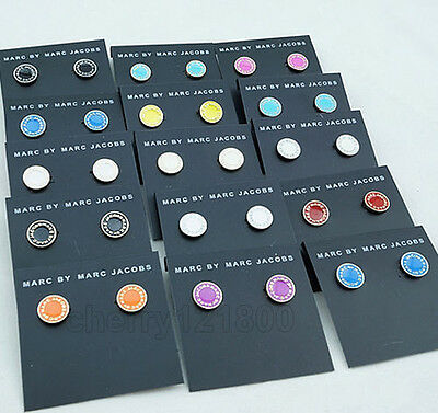 2016 NEW Hot Marc by Marc Jacobs Sale Multiple colors Letters Disc Stud Earrings