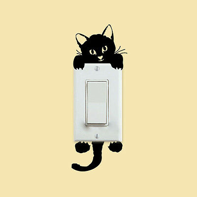 FASHION 3PCS DIY Cat Light Switch Sticker Wall Sticker Decal Home ...