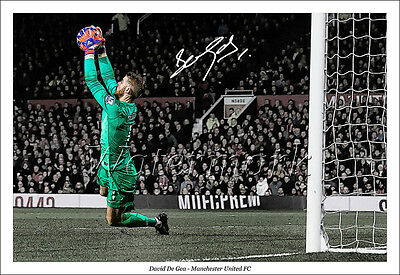 David De Gea Signed Photo Poster Print Squad Man Utd Manchester United 2016