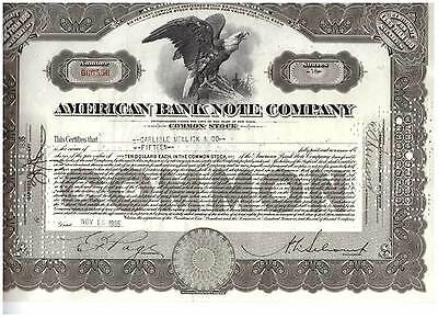 Lot of 10 American Banknote Company Brown Color 1930's