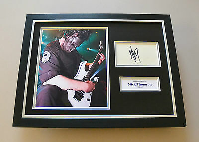 Mick Thomson Signed Framed 16x12 Photo Slipknot Autograph Memorabilia Display