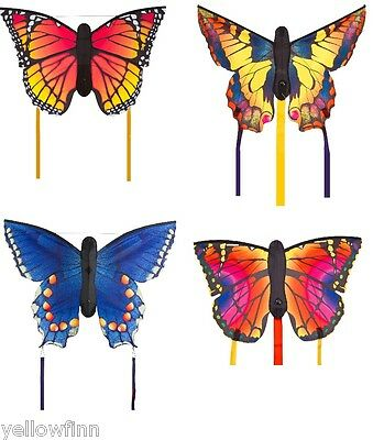 HQ Butterfly Kite Large 130 x 80cm Ready To Fly Kids/Adult Outdoor - 4 Designs