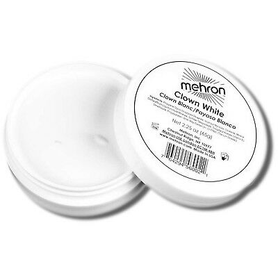Mehron Clown White Make Up  - Professional Clown Stage Face Body Paint 2 oz.