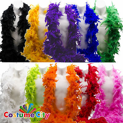 6 ft 60g Feather Boa Hen Night Burlesque Showgirl Fancy Dress Costume Accessory