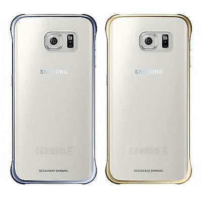 Genuine Samsung Galaxy S6 Edge Clip-On Clear Case Cover For S6 Edge SM-G925 New