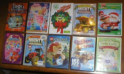 Wholesale Lot of 10 Kid's DVDs ~ Mighty Machines, Chima, Leap Frog, etc...