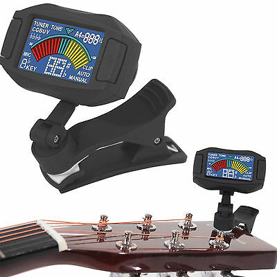 Eno Clip on Chromatic Acoustic Bass Electric Guitar Tuner Violin Ukulele Banjo