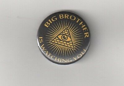 BIG BROTHER Nr.1  BUTTON ANTI NWO/BILDERBERGER/ILLUMINATI/NEW WORLD ORDER