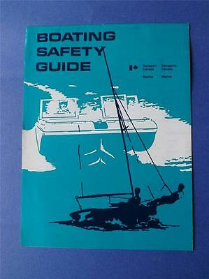 Boating Safety Guide Fold Out Brochure 1972 Transport Canada Marine Navigation