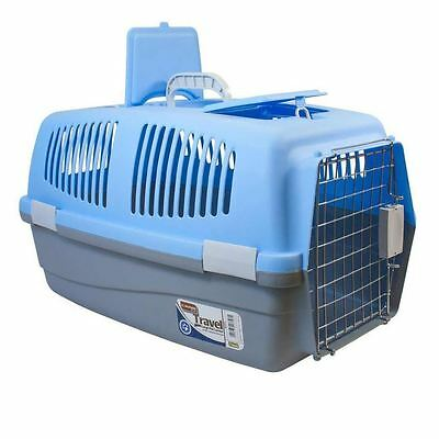 Large Pet Travel Carrier Basket Plastic Box Crate Cage Handle Dog Cat Rabbit