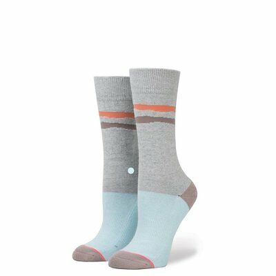NEW Womens Stance Drifting Tomboy Light Socks in Grey Size Small (5-7.5)