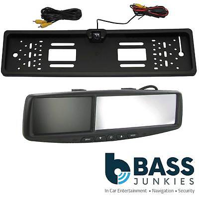 "4.3"" Rear View Reversing Screen Mirror Monitor & Car Number Plate Colour Camera"