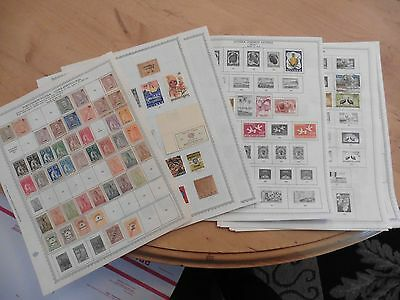 C57 Portuguese 1893-1950 & French 1960-1973 Guinea Stamps Minkus 18 pages hinged