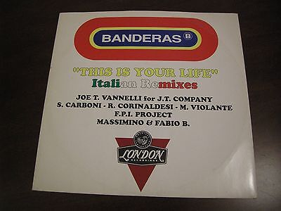 Banderas - This Is Your Life - Italian Remixes - 45Gg Vinyl
