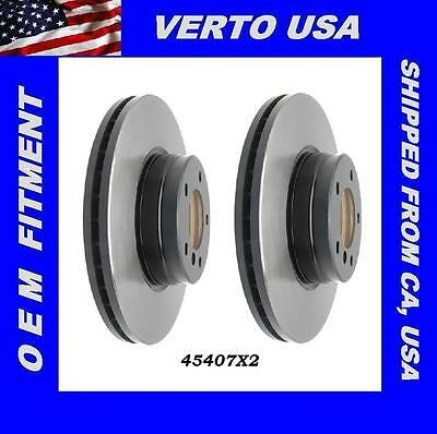 Verto USA  31434X2 Limited Life Time Warranty Set Of 2 Front Disc Brake Rotors