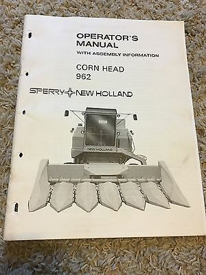 New Holland Corn Head 962 operator's manual