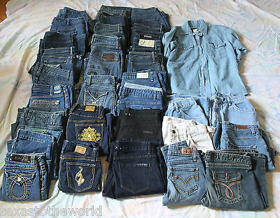 Ladies Girls Jeans Lot Vintage Wrangler Shorts *Mixed Sizes* Resell Wholesale