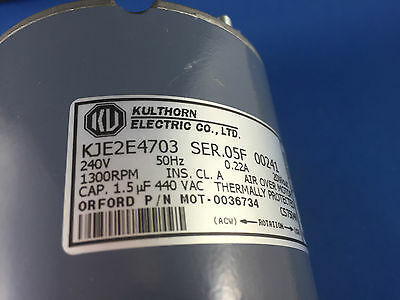 KULTHORN  CONDENSER FAN MOTOR 20W out  0.40AMP 1300RPM KJE2E4703 HUB SHAFT