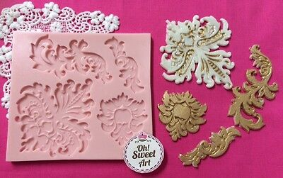 Arabic embroidery Application Silicone Mold Food Safe  Cake Decoration  Cupcake