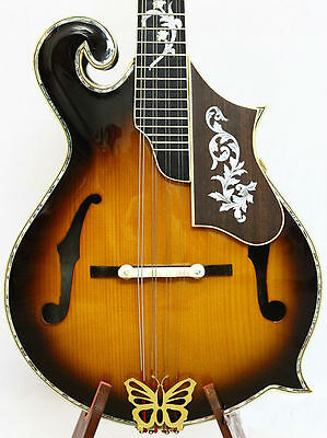 F5 style Mandolin,Solid curl maple,classical MOP inlaid,shiny polish,BF5MI10